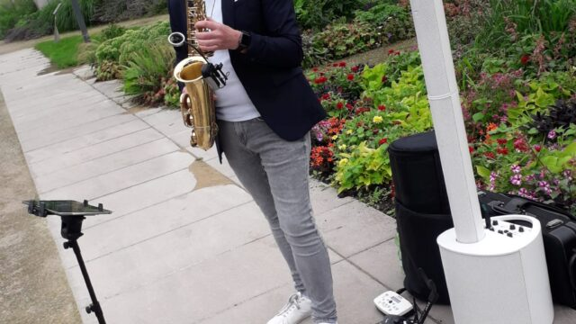 Hochzeit mit Saxophonist Mister SAX im Gartenschau Park Bad Lippspringe