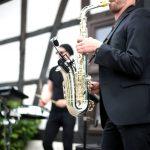 Trauung mit dem Hallelujah als Saxophonist begleitet