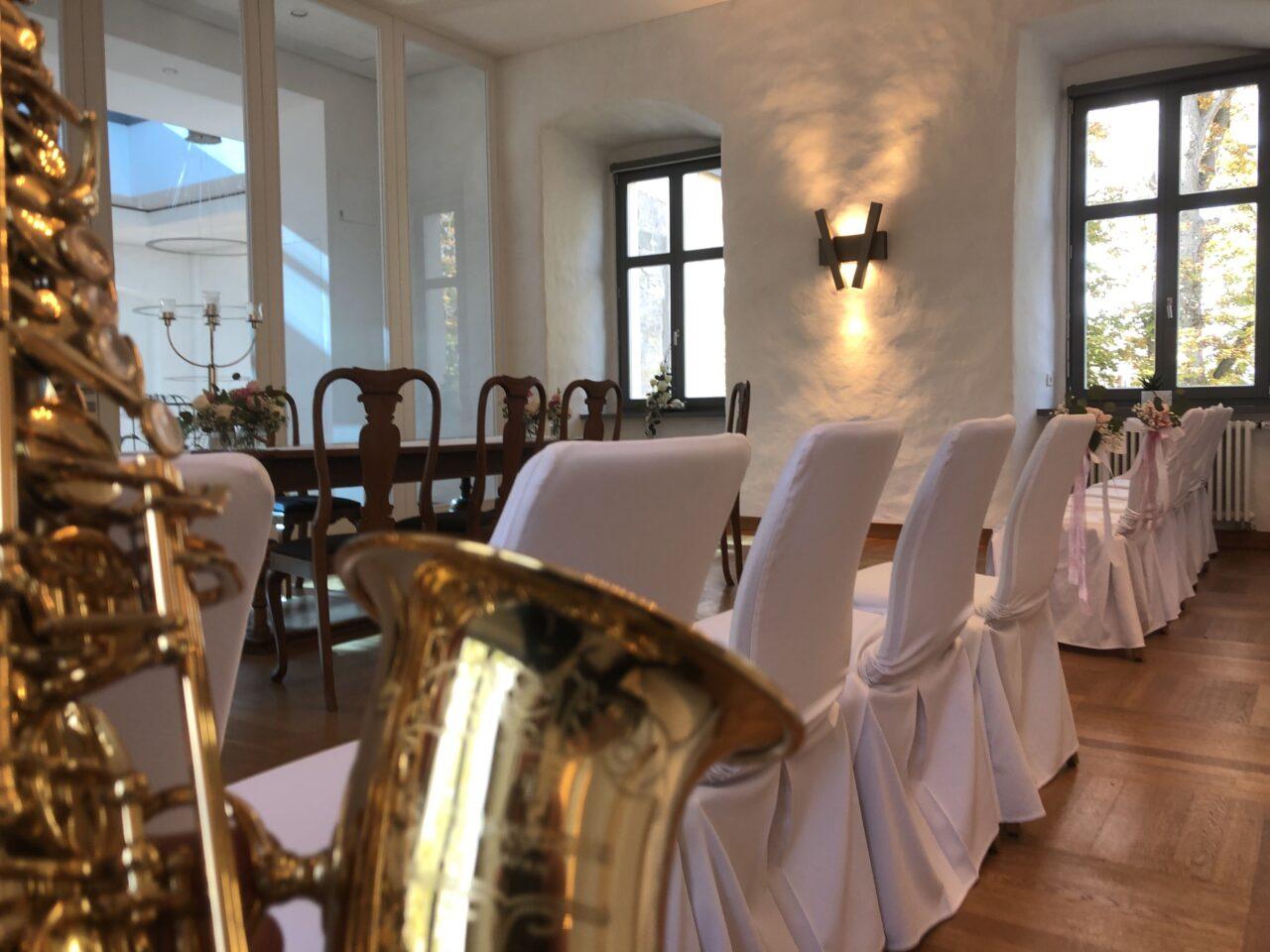 Saxophon zur Trauung – Hochzeit im Rittergut Strömende mit Mister Sax