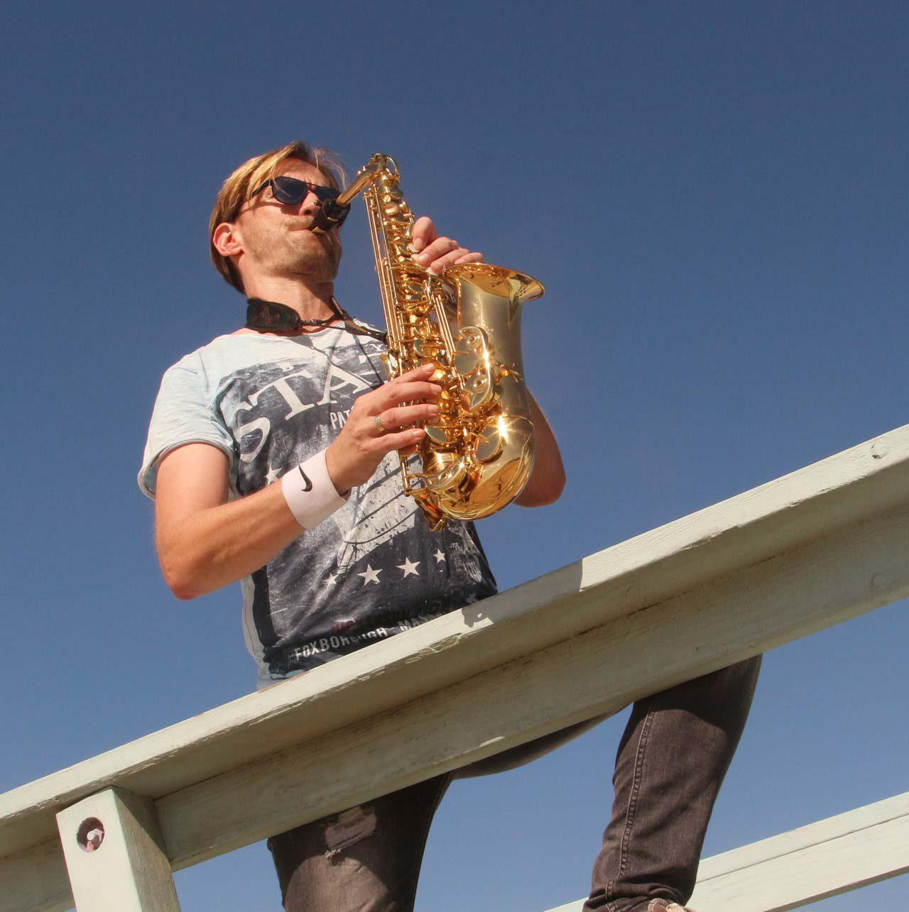 Saxophonspieler Mister Sax